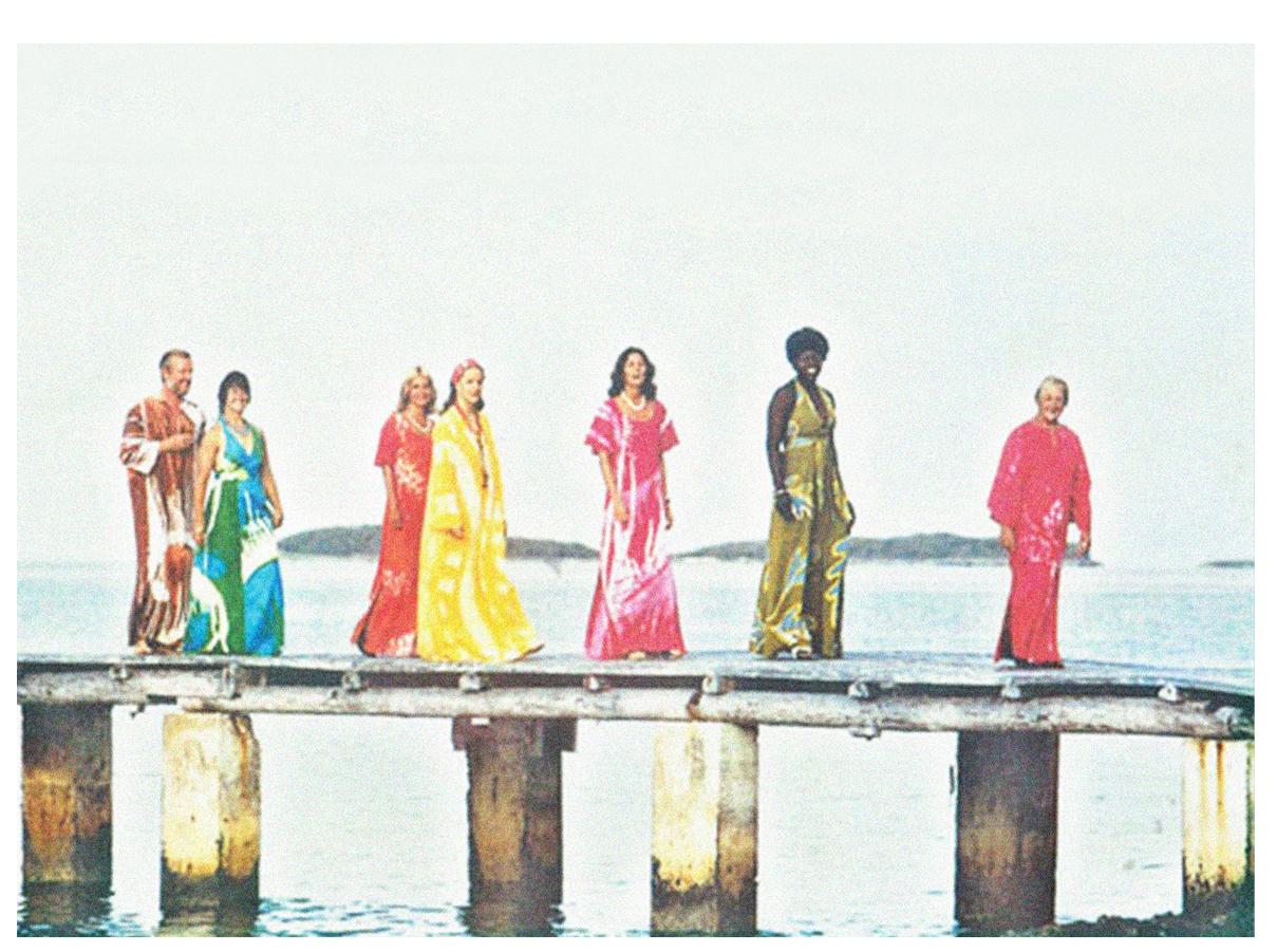 people on bahamian dresses